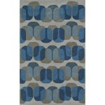 Shop Black Friday Deals On Addison Taylor Blue Grey Geometric Area Rug 5 X 7 6 Overstock 18611325