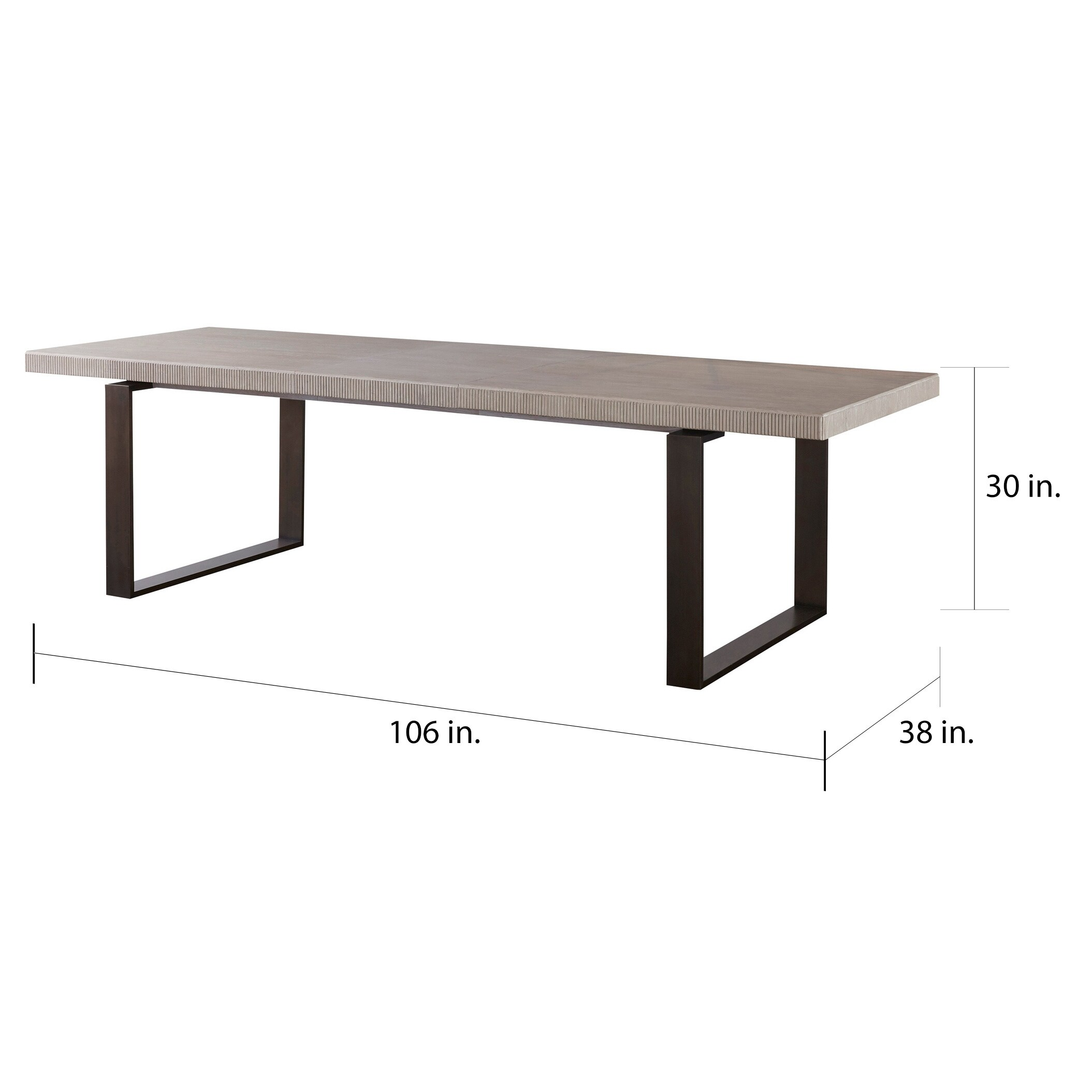 Shop Black Friday Deals On Carbon Loft Kimiko Modern Quartz Bronze Rectangular Dining Table Overstock 18704816