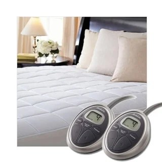 Sunbeam Selecttouch Premium Quilted Electric Heated Mattress Pad Queen Size White