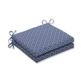 Pillow Perfect Outdoor/Indoor In The Frame Sapphire Squared Corners Seat Cushion 20x20x3 (Set of 2)