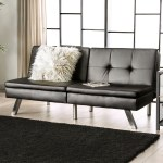 Shop Black Friday Deals On Furniture Of America Dini Contemporary Faux Leather Futon Sofa Overstock 19508678