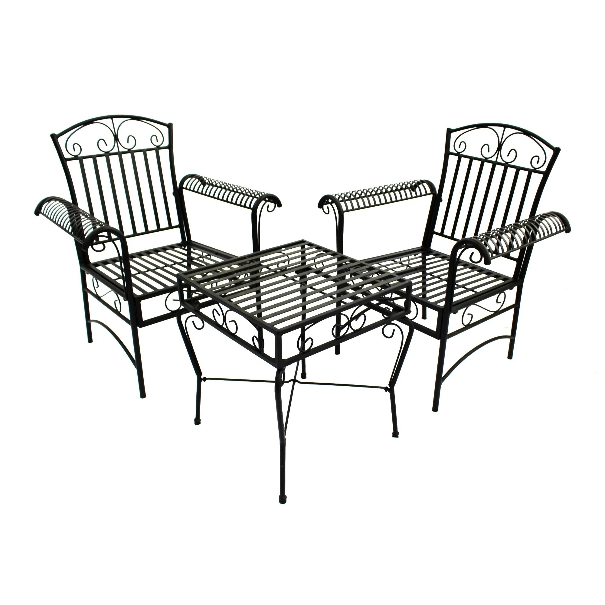 Shop Courtyard Casual Black Steel French Quarter Outdoor
