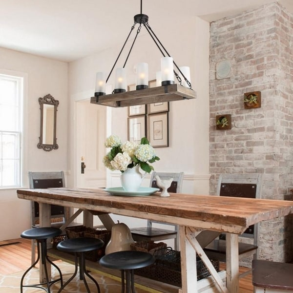 Rustic Pendant Lighting Kitchen Island