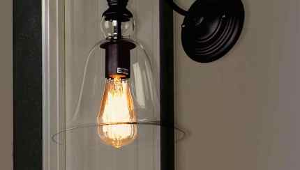 Shop Black Friday Deals On Tamrion Black Metal 1 Light Wall Sconce Clear Glass Shade With Edison Bulb On Sale Overstock 19792468
