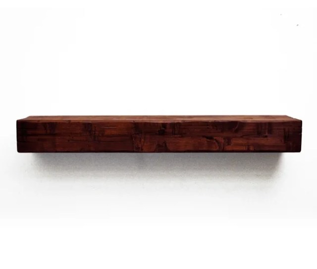 Dogberry Collections Rustic Red Wood Fireplace Mantel Shelf