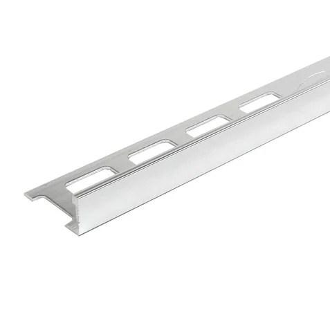 8 foot polished chrome finish aluminum thin edge tile trim set of 10