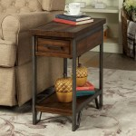 Furniture Of America Quif Rustic Oak Wood Narrow Usb Charging Table Overstock 20234600