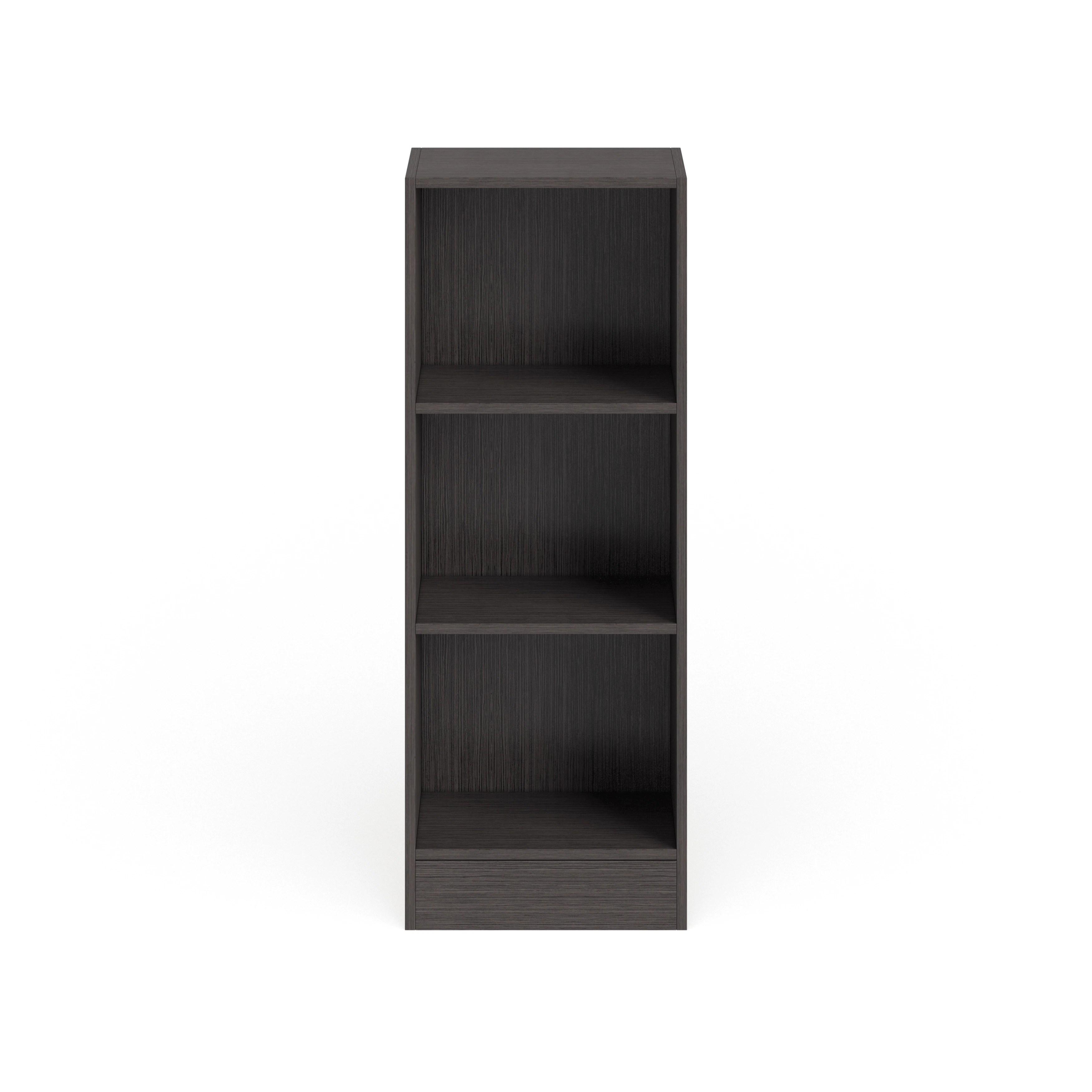 Porch Den Alethea Short Narrow 3 Shelf Bookcase
