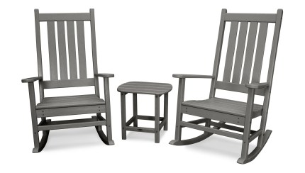 Shop Black Friday Deals On Polywood Vineyard 3 Piece Outdoor Rocking Chair Set Overstock 20489717