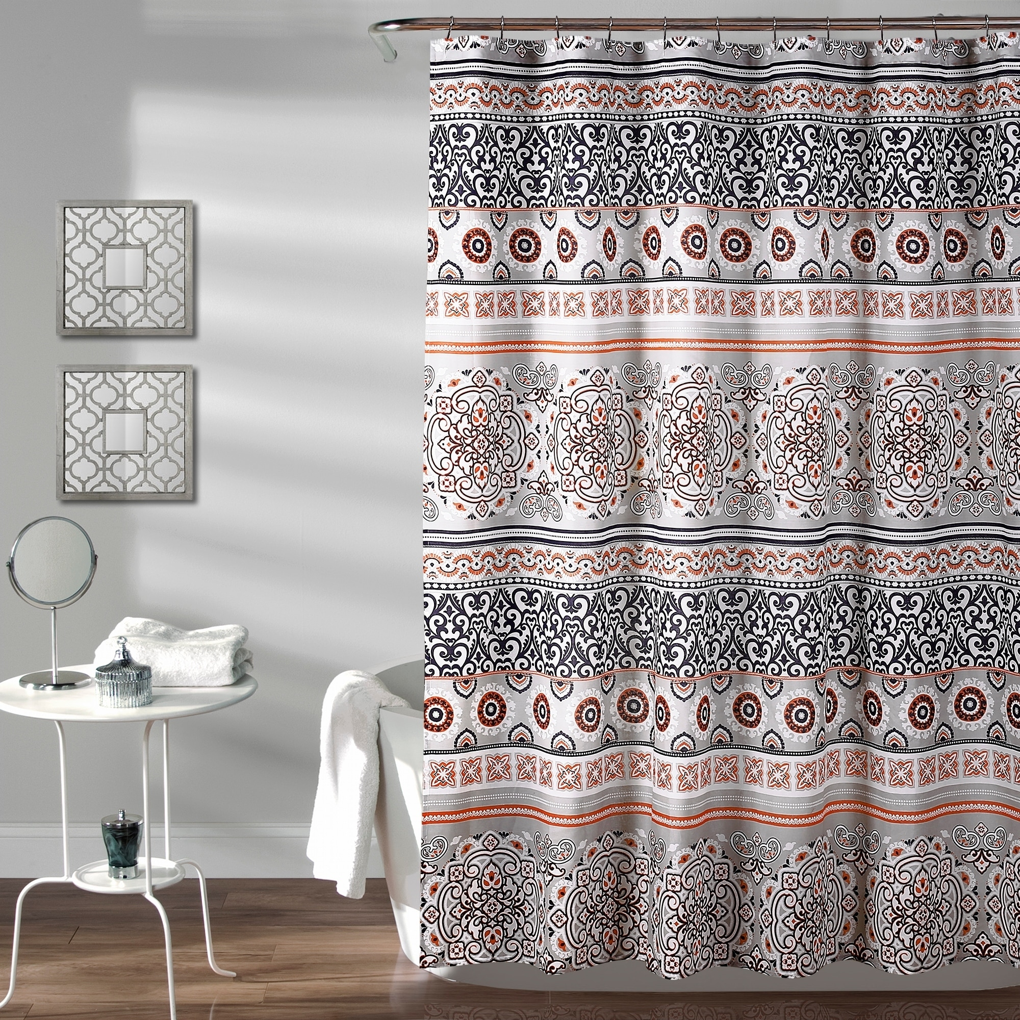 The Curated Nomad La Boheme Striped Shower Curtain