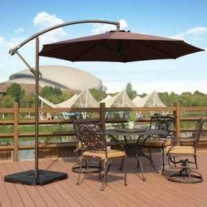 Patio Umbrellas   Shades   Shop our Best Garden   Patio Deals Online     Weller 10 Ft Offset Cantilever Hanging Patio Umbrella by Westin Outdoor