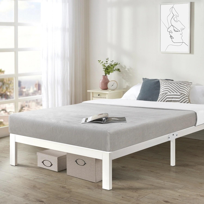 crown comfort titan e queen size heavy duty steel platform bed frame