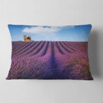 Designart Purple Lavender Field Landscape Photography Throw Pillow On Sale Overstock 20946005