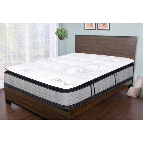 sleep therapy natural plush double sided pillow top mattress king