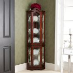 Mccoy Mahogany Lighted Display Corner Curio Cabinet On Sale Overstock 2105608
