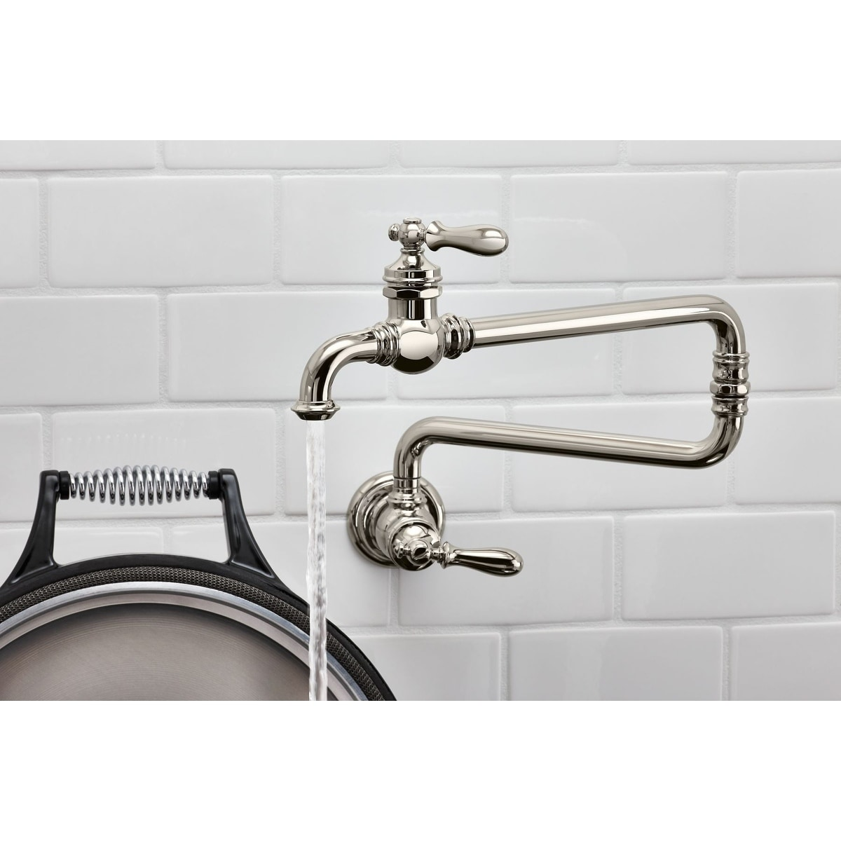 kohler artifacts single hole wall mount pot filler kitchen sink faucet with 22 extended spout