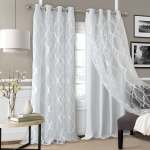Bethany Sheer Overlay Blackout Window Curtain Overstock 21424719