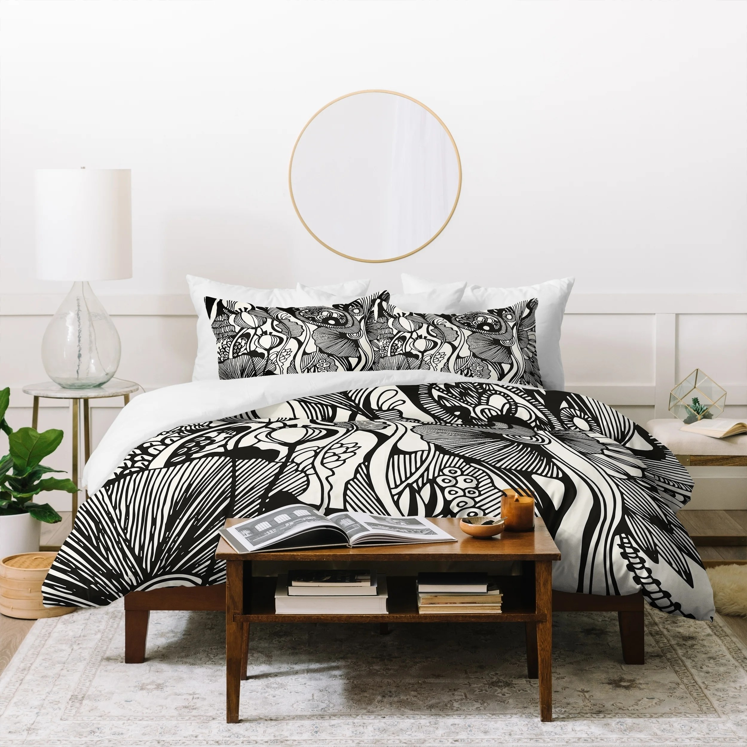 Shop Deny Designs Black And White Botanical Duvet Cover Set 3 Piece Set On Sale Overstock 21453981