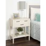 Meacham Three Drawer Nightstand Side End Table Antique White