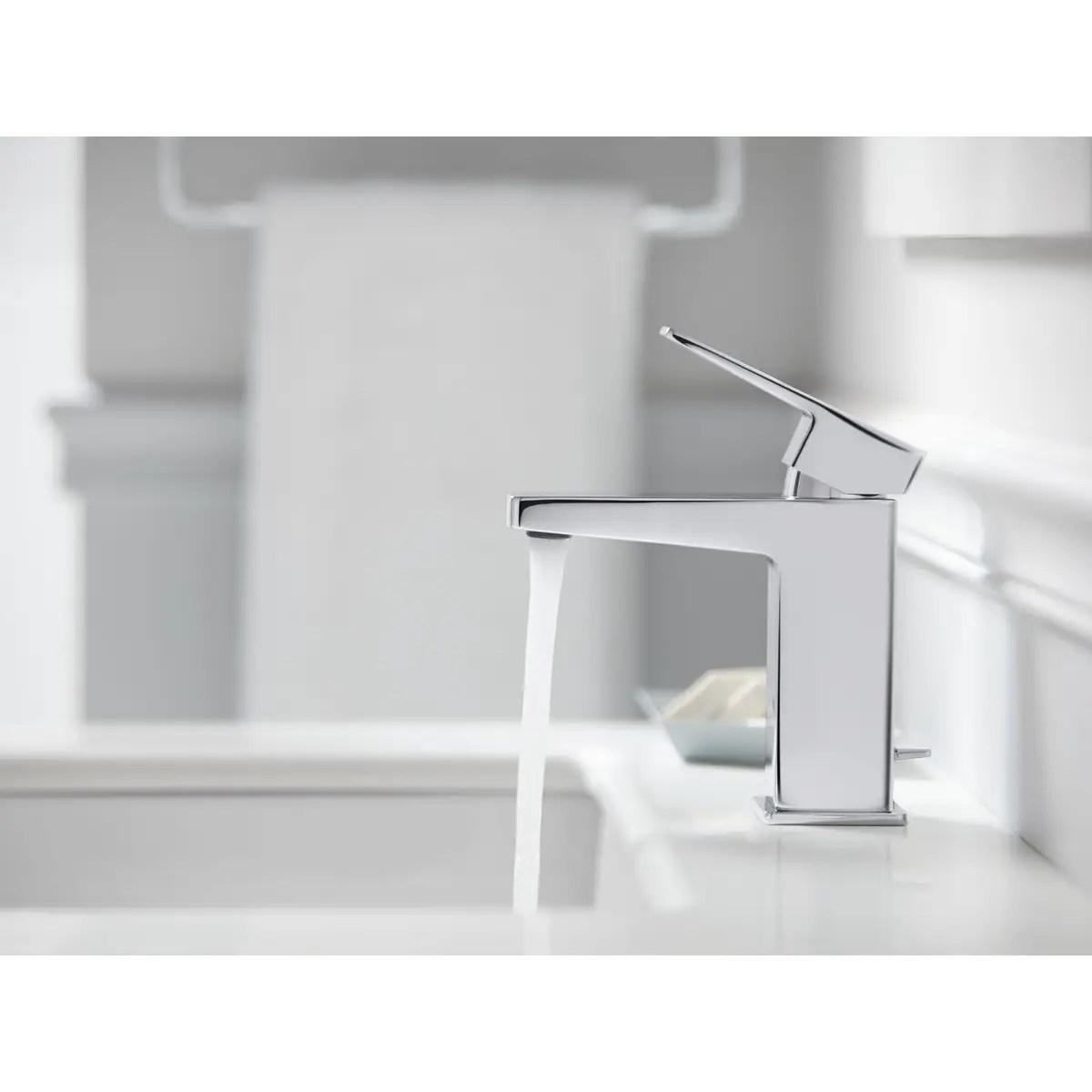 kohler honesty single handle bathroom sink faucet polished chrome
