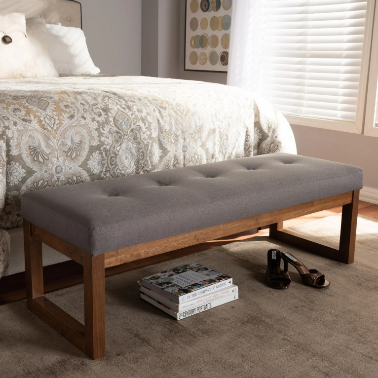 Contemporary Fabric Upholstered Bench by Baxton Studio
