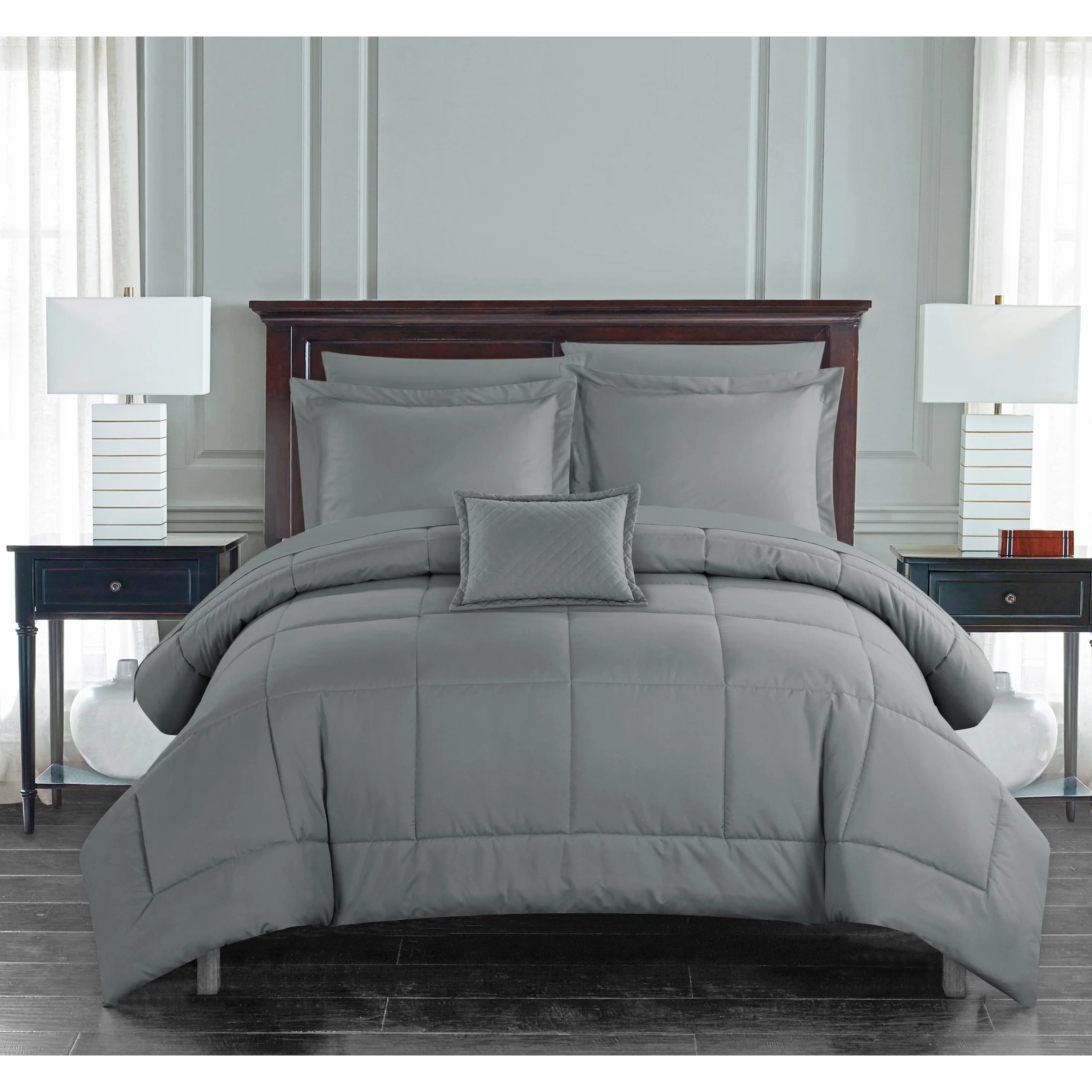chic home jorin 8 piece bed in a bag solid color comforter set