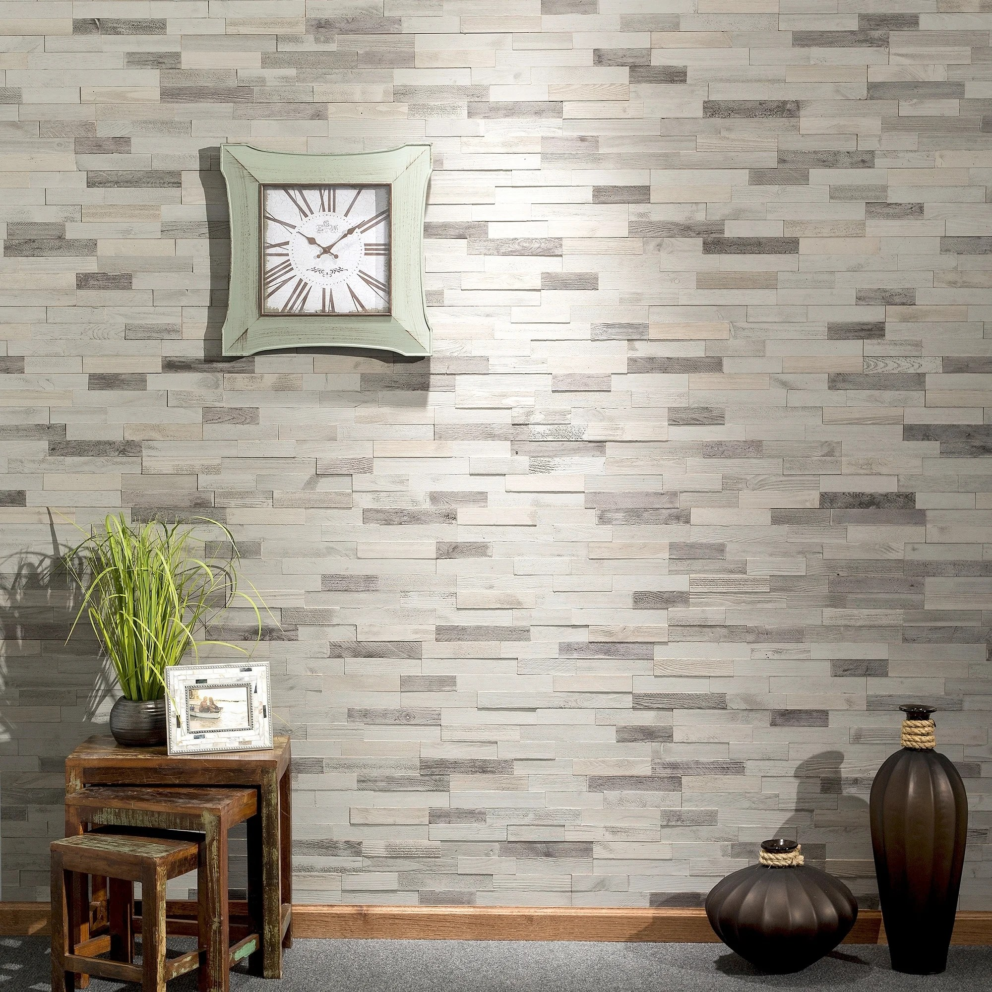 aspect peel n stick wood 6 5 x 24 tile 5 pack weathered barn approx 5 sq ft