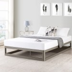 Porch Den Mcalpin Champagne Silver Twin Size 9 Inch Metal Platform Bed Frame With Round Corners Overstock 21906013