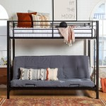 Taylor Olive Tussock Black Steel Bunk Bed And Futon On Sale Overstock 21906971