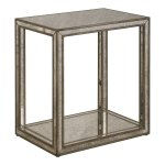 Uttermost Julie Burnished Antique Gold Mirrored End Table Overstock 22042868