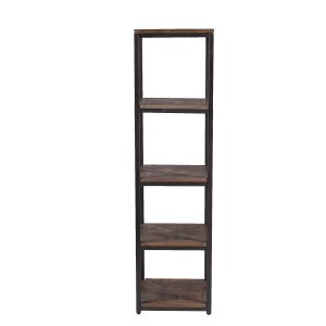 Carbon Loft Northrup Rustic Black With Distressed Fir Media Bookcase