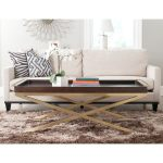 Safavieh Couture Rivington Coffee Table Brown And Gold Overstock 22098260