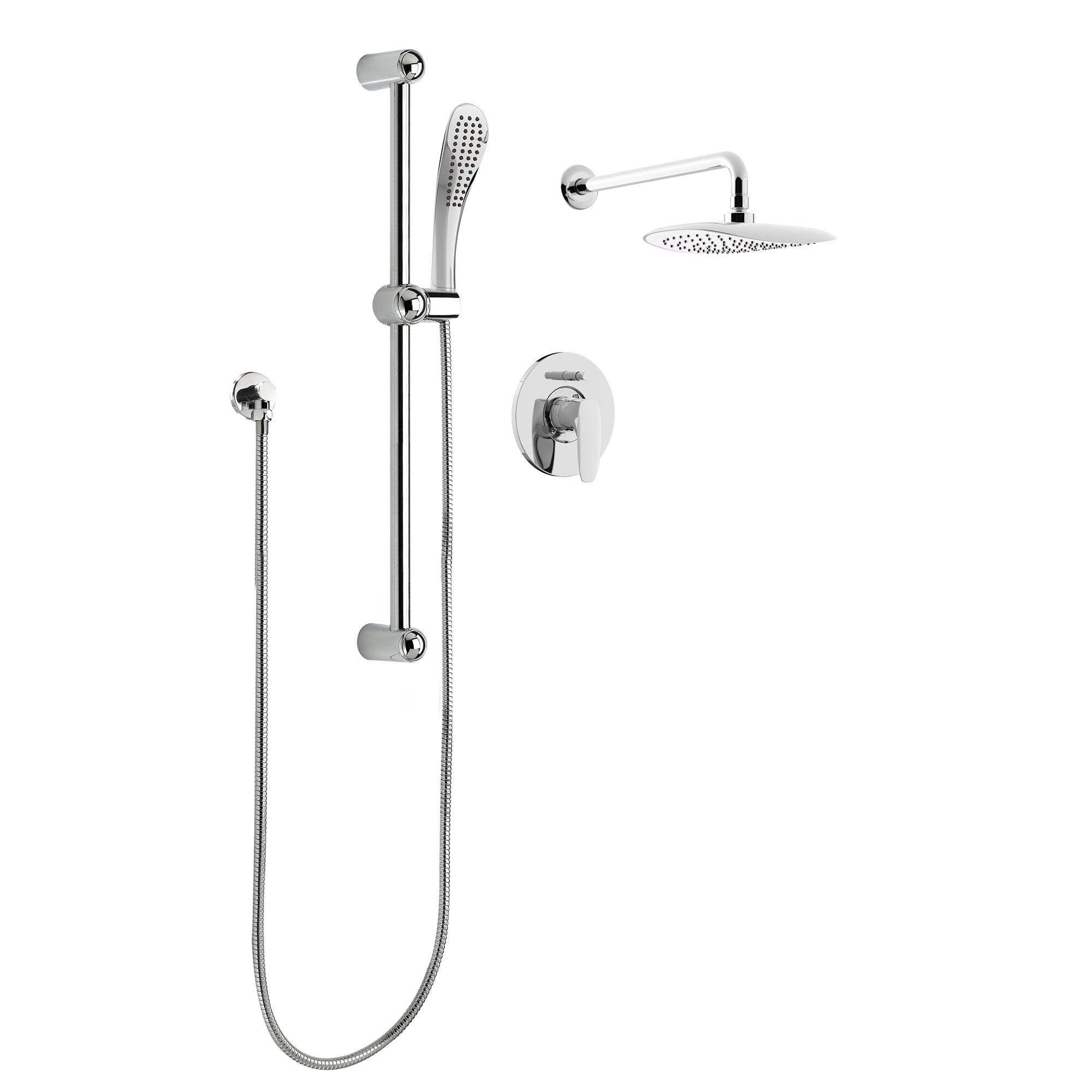 Kit Pur130ccp Oval Rain Shower Faucet With Pressure Balanced Diverter Valve