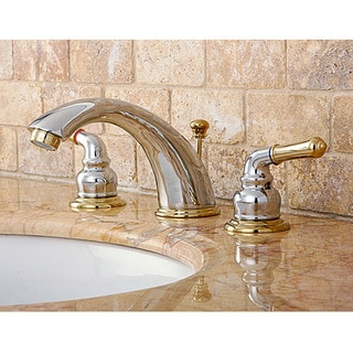 widespread polished brass faucet - free shipping today - overstock