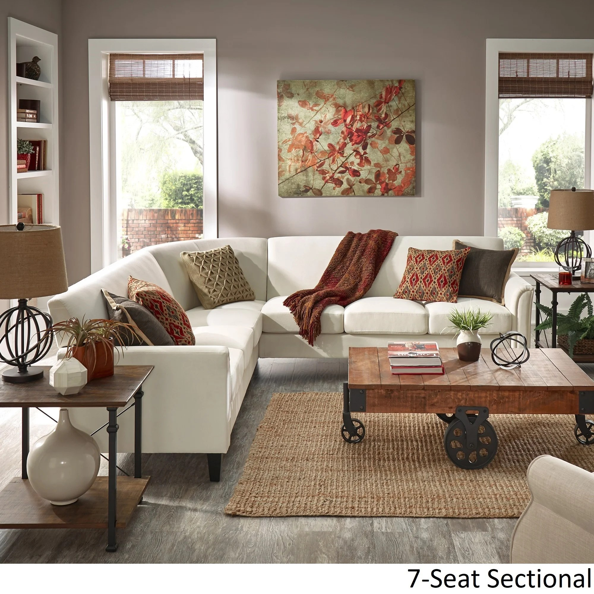 uptown modern ivory white upholstered l shaped sectional by inspire q classic