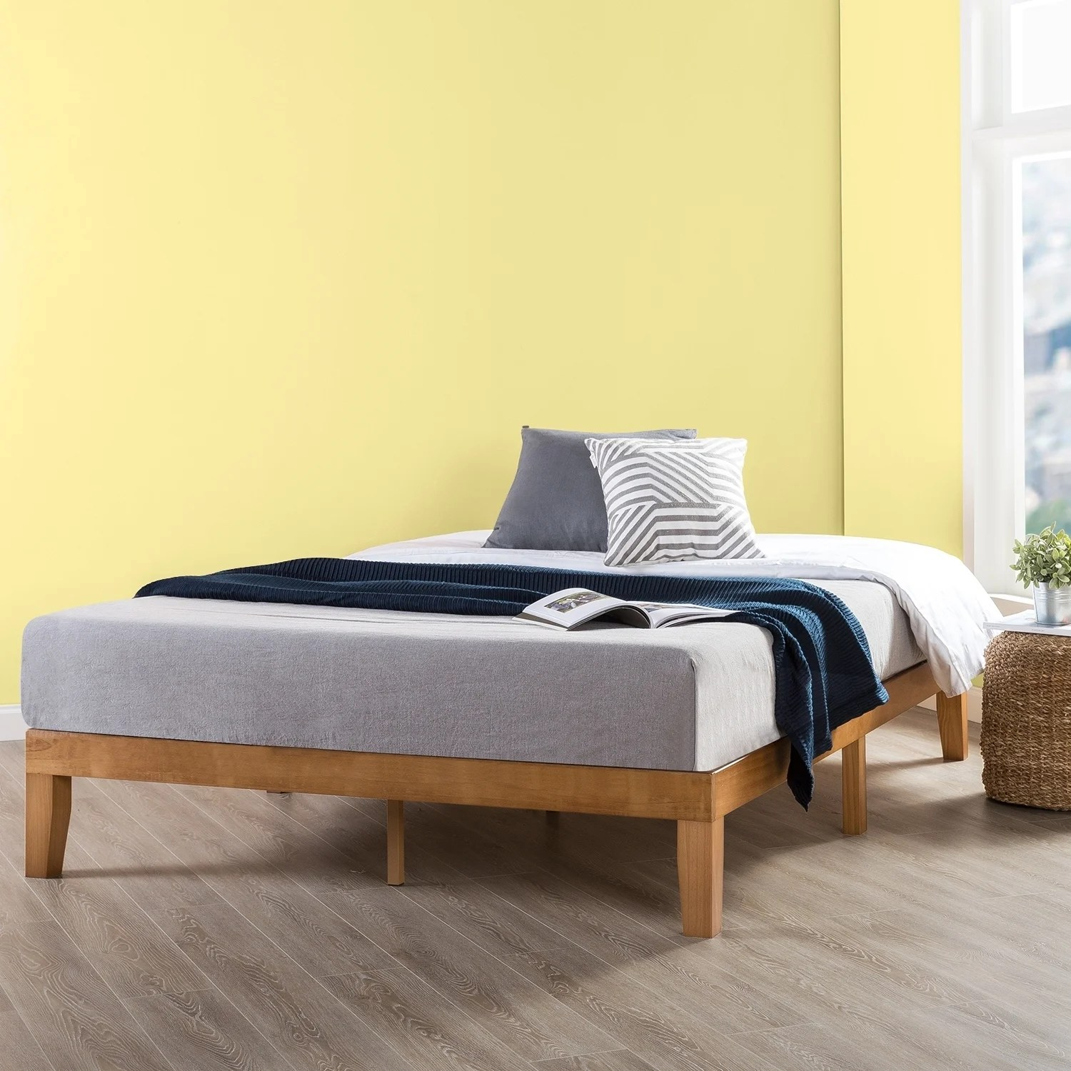 Full Size 12 Inch Classic Solid Wood Platform Bed Frame Natural Crown Comfort On Sale Overstock 22378120