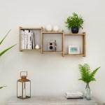 3 Cube Floating Wall Shelf Horizontal Or Vertical Weathered Oak