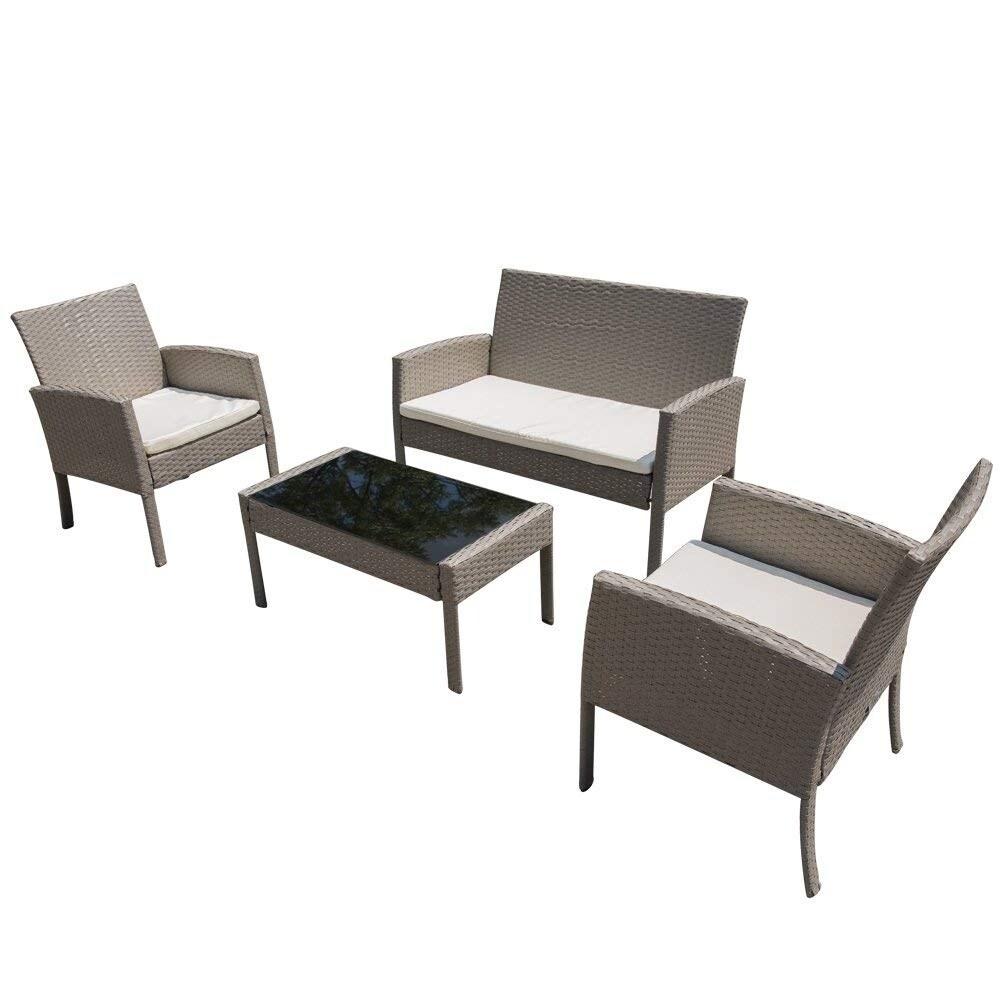 bridgewater 4 piece wicker patio furniture set by havenside home