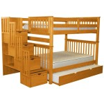 Espresso Bedz King Stairway Bunk Beds Twin Over Full With 4 Drawers In The Steps And A Twin Trundle Kids Home Store Kids Furniture