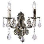 Copper Grove Manez 2 Light Wall Sconce With Antique Brass Finish Overstock 22690789