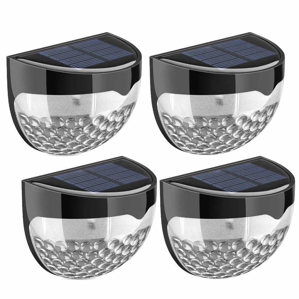 solar fence lights decorative lights 6 led garden lights waterproof wireless outdoor lights