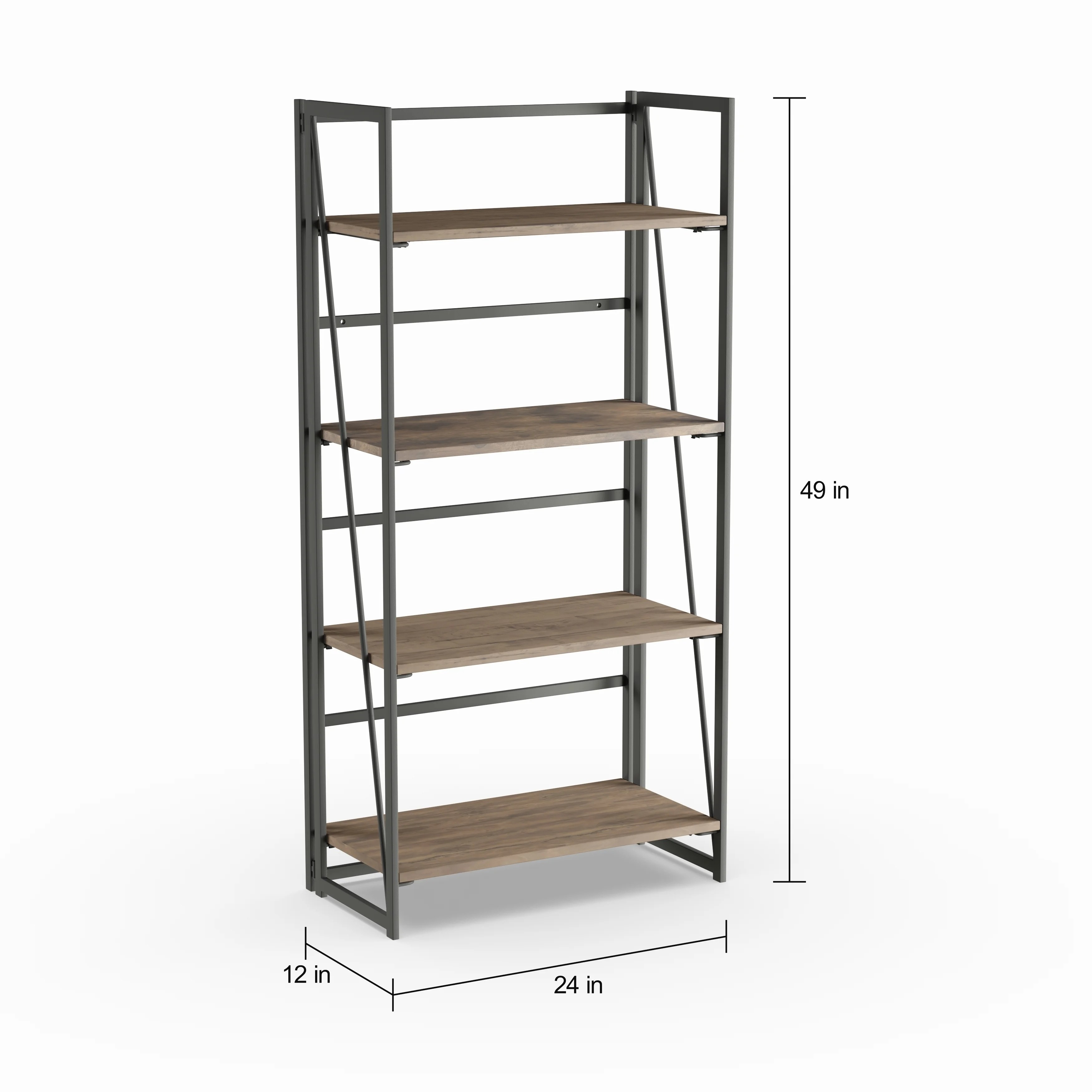 Carbon Loft Goddard Industrial Metal And Wood Bookcase