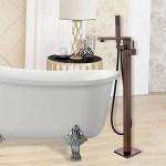 Shop Vanity Art 34 Inch Oil Rubbed Bronze Freestanding Bathtub Faucet Tub Filler Waterfall Floor Mount Faucet With Hand Shower Overstock 22852501