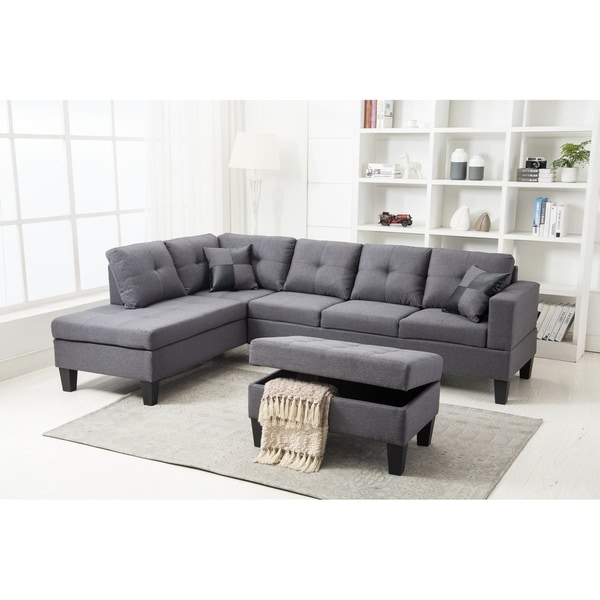 microfiber sectional sofa set with free