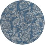 Shop Alise Rugs Colonnade Transitional Floral Round Area Rug 5 3 X 5 3 Overstock 22964561