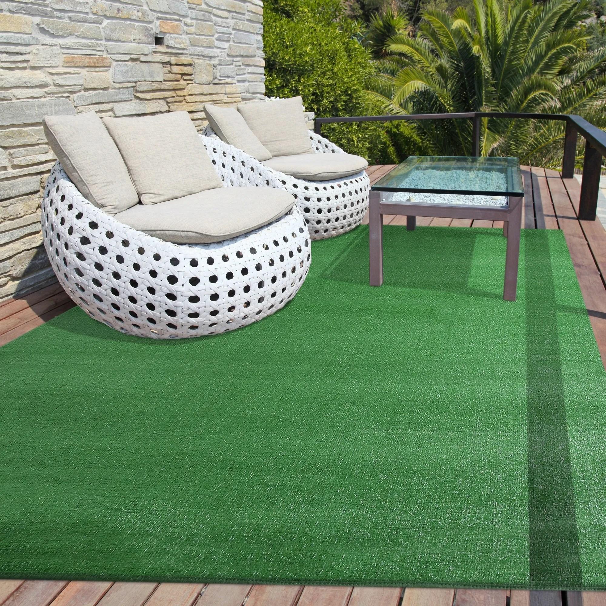 icustomrug outdoor artificial turf rug in green