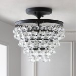 Shop Black Friday Deals On Toronto 13 Metal Crystal Led Flush Mount Oil Rubbed Bronze By Jonathan Y Overstock 22999876