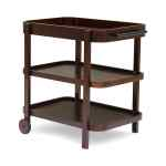 Pine Valley Outdoor Traditional Acacia Wood Bar Cart With 3 Shelves By Christopher Knight Home Overstock 23007969