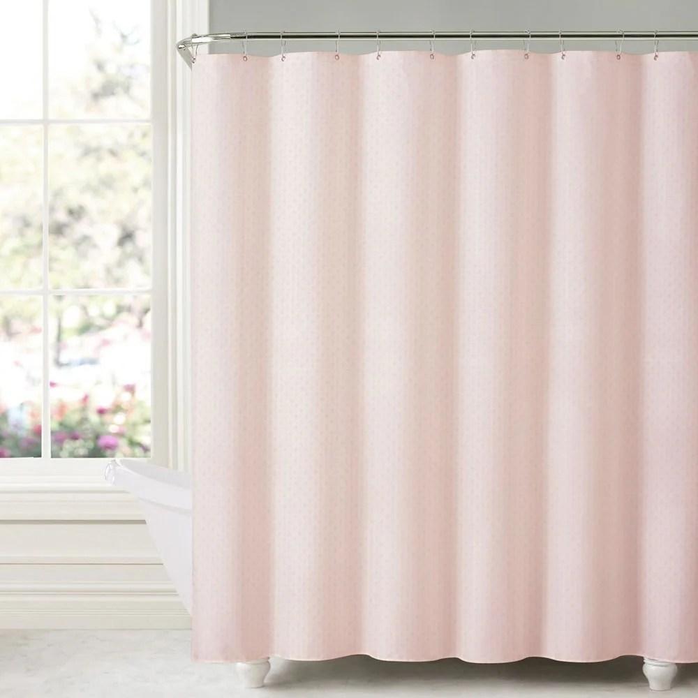honeycomb embossed microfiber shower curtain liner 70 x72 blush