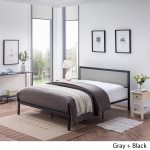 Haroun Contemporary Upholstered Headboard Queen Size Bed Frame By Christopher Knight Home